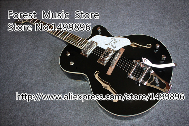 Cheap Hot Selling Hollow Body ES Electric Guitars China Gold Hardware ES Guitar With Bigsby In Stock