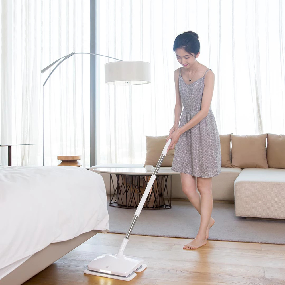Image 4 - Xiaomi SWDK D260 Handheld Electric Floor Mop Wireless Mijia Wiper Floor Washer Mopping Robot Household Cleaning With LED Light-in Vacuum Cleaners from Home Appliances