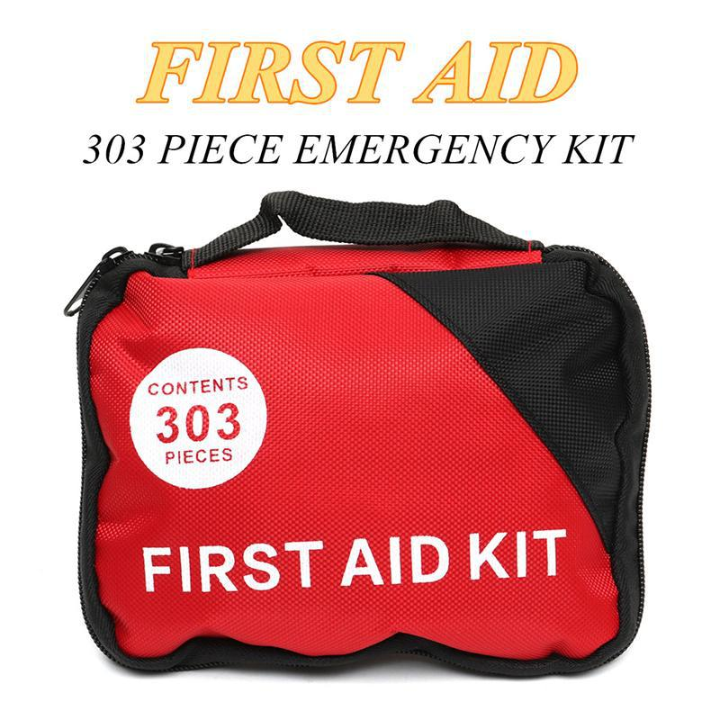 303 Piece Emergency First Aid Kit Oxford Pouch Outdoor Household First Aid Medical Bag Survival Portable Travel Rescue Bag