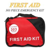 303 Piece Emergency First Aid Kit Oxford Pouch Outdoor Household Car Bag First Aid Bag Survival Portable Travel Rescue Bag