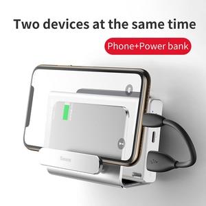 Image 4 - Baseus קיר הר מחזיק עבור iPhone 11 פרו מקס מתכת חזק דבק טלפון נייד מחזיק עבור Samsung Huawei Xiaomi מטען stand