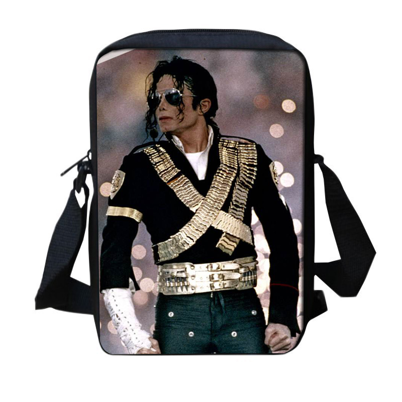 New Fashion Casual Flap Bags Michael Jackson Style 3D Messenger Bags For  Teenage Girls Boys Pop King MJ School Crossbody Bags-in Crossbody Bags from  Luggage ...