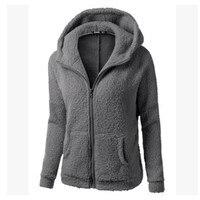 New 2018 Fashion Autumn Winter Women Hoodies Fleece Hooded Long Sleeve Zipper Thicken Coat Outwear Sudaderas