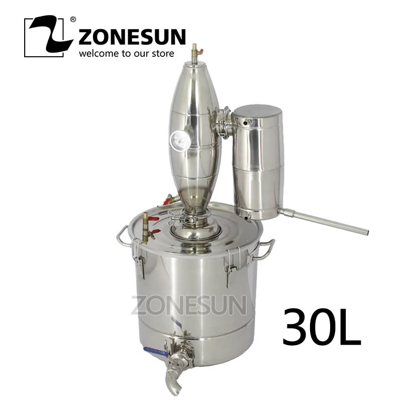 ZONESUN 20 30 50 70L Vino Distiller Bar, Utensili e Accessori Birra Macchine Produzione di Alcol Caldaia In Acciaio Inox Vino Brew Kit Bar Dispositivo set