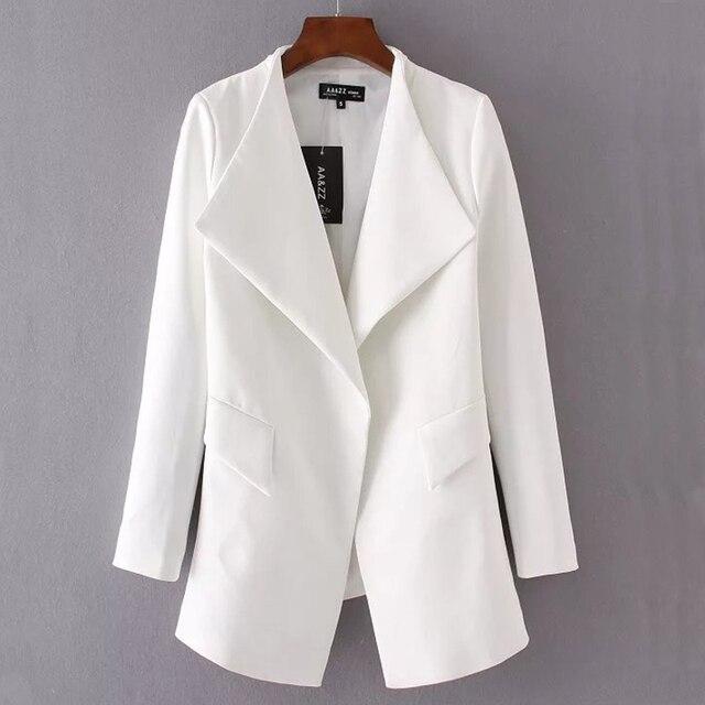 Autumn White Office Jacket For Women Long Sleeve WomenS