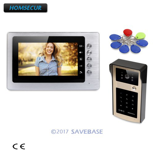 HOMSECUR 7 Video Door Entry Call System with Mute Mode for Home Security for House/ Flat