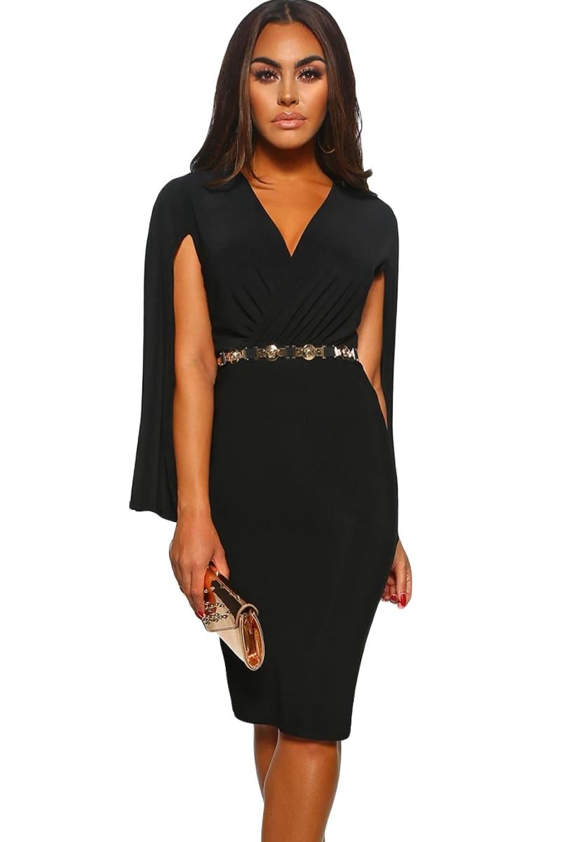 Black-Manhattan-Moment-Cape-Wrap-Front-Midi-Dress-LC220640-2-31501