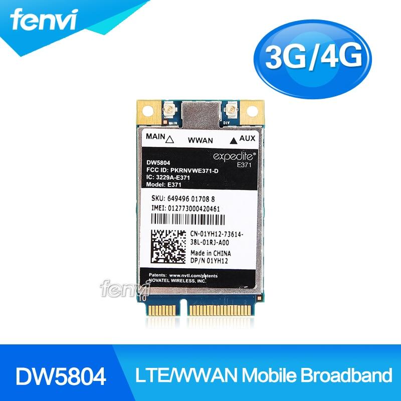 Unlocked Wireless DW5804 4G LTE/WWAN Mobile Broadband 01YH12 E371 PCI-E 3G/4G Card WLAN WCDMA Module Modem For Dell