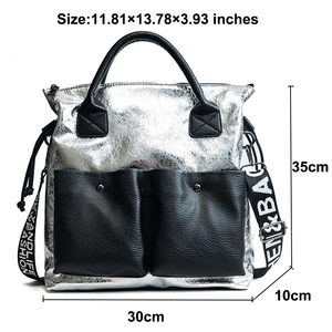 Image 2 - Topashine Bolso de gran capacidad para mujer, bolsa de compras de moda, dos bolsillos, informal, 2019