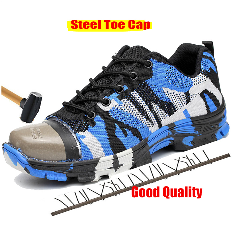 Shoes Zapatos Pour Travail Safety Shoes Des La De Casual Hommes Hombre Chaussures Blue Sneakers Krasovki Sécurité Toursh green Zdvnd