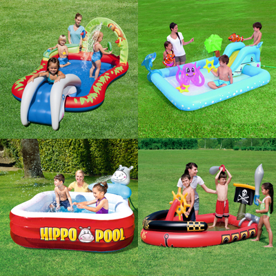 Large Inflatable Pool Toy Big Swimming Pool For Kids Game Home Pvc Water Slide Child Outdoor Summer Pool Slide Fun Bouncer House blue large inflatable swimming pool safe pvc kids baby swimming pool portable toddler child playing game pool