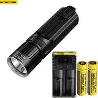NITECORE SRT9 Lanterna LED CREE XHP50 2150LM Com Vermelho/Azul Luz de Advertência do lance feixe 246 M Tocha + 2 pcs 18650 3400 mAh baterias