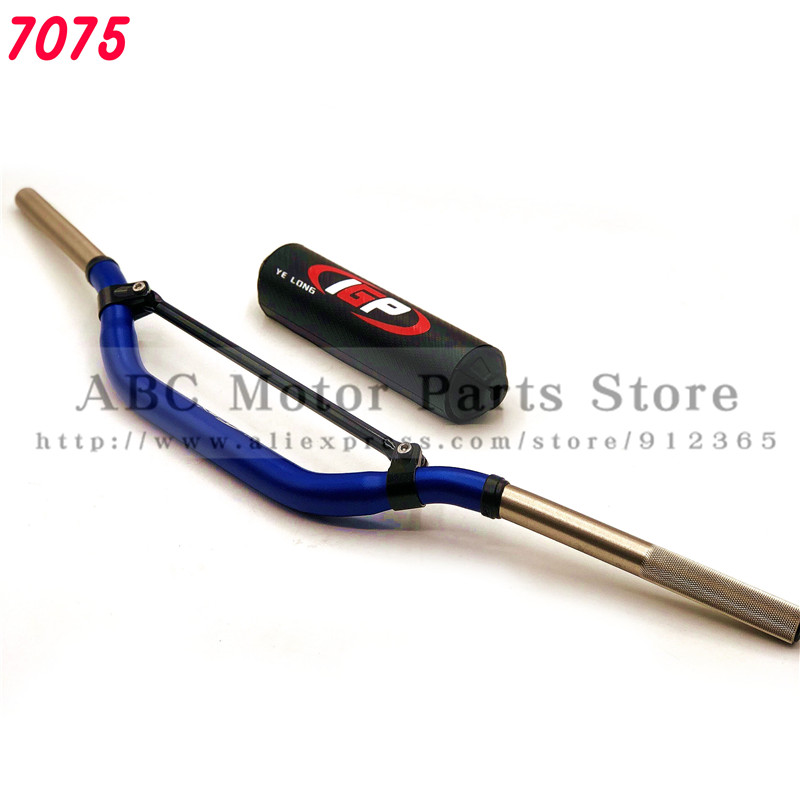 Universal Motorcycle Handlebar 7075 Aluminum T7 High Quality Handle Bar With BarPads 1 1 8 Dirt
