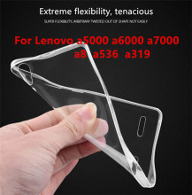Transparent New Protector Case For Lenovo a5000 A 5000 a6000 A536  A7000 TPU back cover +  For Lenovo  a319 A2010 A8 Case phone