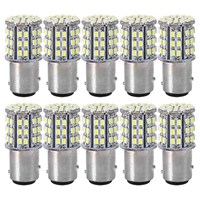 White 10PCS Set BAY15D 1157 Car Tail Stop Brake Light Super Bright 64 SMD LED Bulb