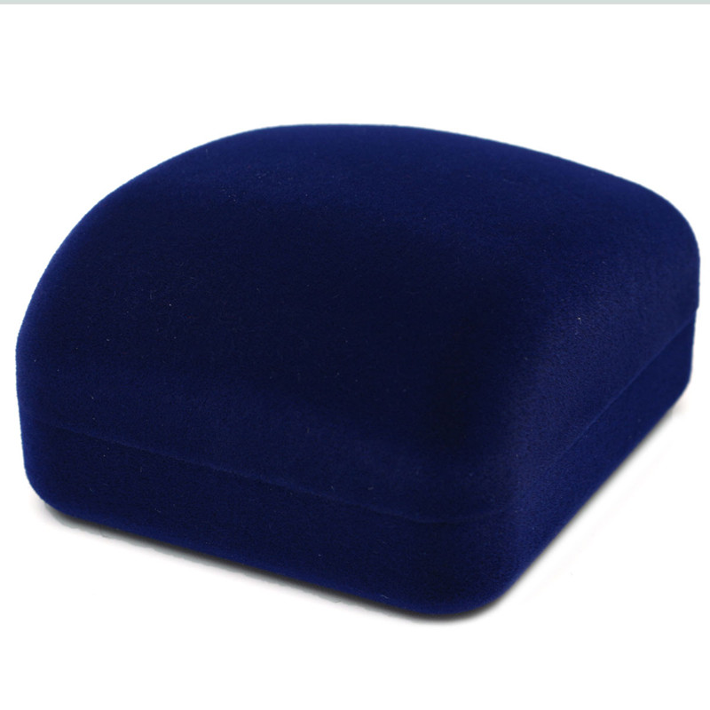 Hot Sale 1Piece Women Girls Jewelry Gift Box Square Shape Velvet Blue Color Ring Necklace Earring Jewelry Package