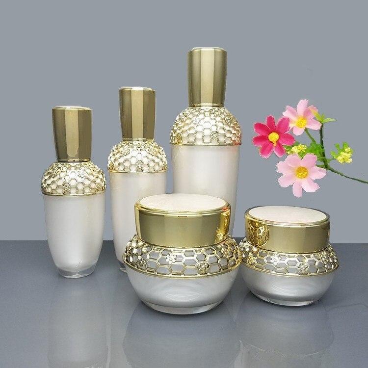10pcs lot 30 50g Empty Makeup Cosmetic Face Cream Jar Pot 30 50 120ml Acrylic Eye