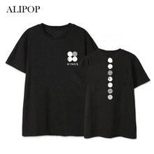 Youpop Kpop BTS Bangtan Boys WINGS Concert Album Shirts K-POP Cotton Clothes Tshirt T Shirt Short Sleeve Tops T-shirt DX384