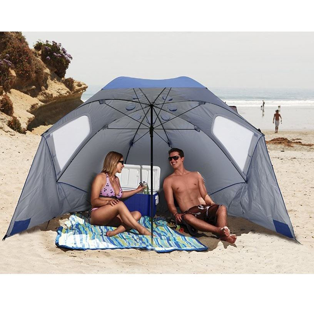 Outdoor Large Umbrella Sun Shelter Shade Portable Yard Beach Canopy Tent