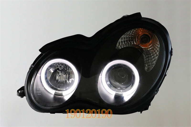 VLAND factory for Car head lamp for W203 C180 C230 LED Headlight 2000-2006 for C280 C320 Head light with angel eyes and DRL