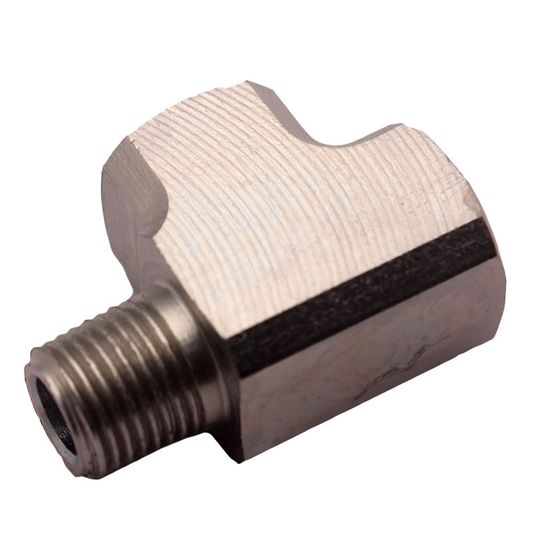 "Image 5 - Mild Steel Adapter T Tee Fitting 1/8"" BSPT For Air Oil Water Pressure Sensor Gauge-in Oil Pressure Gauges from Automobiles & Motorcycles"
