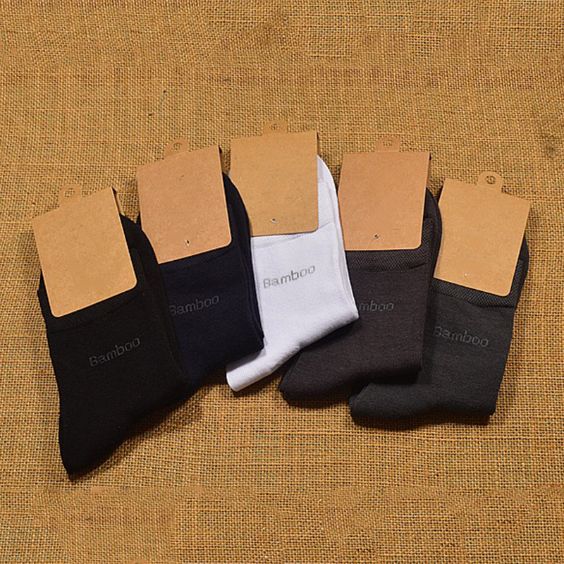 Brand Guarantee Men Bamboo Socks 10 Pairs / Lot Brethable Anti-Bacterial Deodorant High Quality Guarantee Man Sock New Fashion