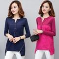Basic plus size tee shirt femme winter long sleeve tshirt woman t shirt womens tops 2016 Button zipper t-shirt camisetas mujer