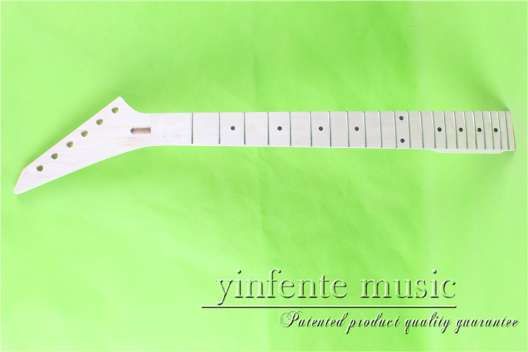 JKX-0082#  left  25.5 Electric guitar neck   Bolt on  maple    fingerboard fine quality  22 fret new electric guitar neck flame maple 22 fret 25 5 truss rod left hand 794