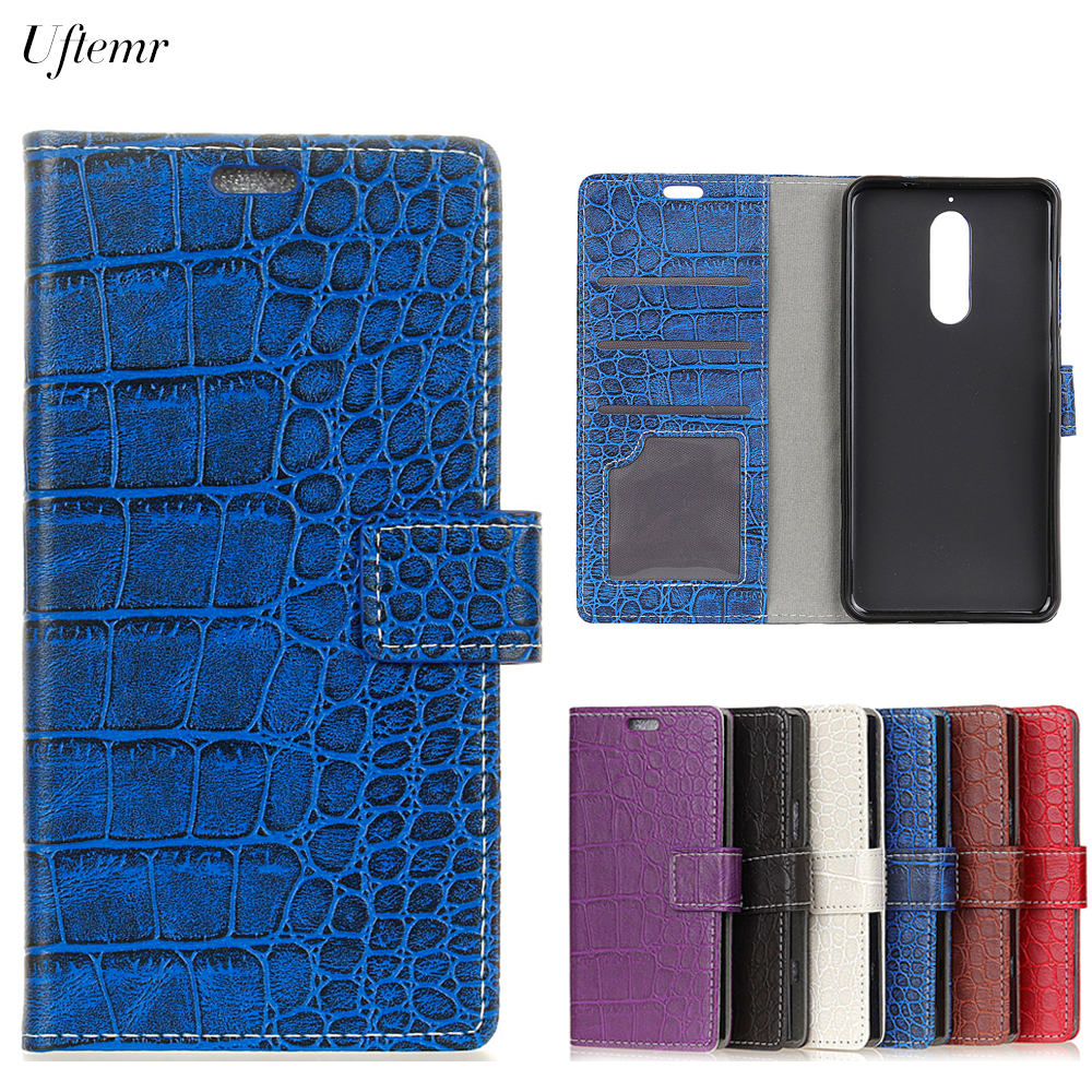 Uftemr Vintage Crocodile PU Leather Cover For Wiko View XL Protective Silicone Case Wallet Card Slot Phone Acessories