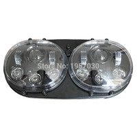 1set HG 839A2/ Head Lamp 2 * 5 3/4 90W inch Dual headlights LED motorcycle accessories for Harley Road Glide Headlight
