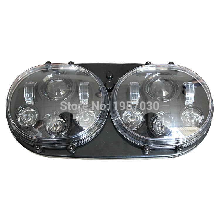 Shineheart Store 1set HG-839A2/ Head Lamp 2 * 5-3/4 90W inch Dual headlights LED motorcycle accessories for Harley Road Glide Headlight