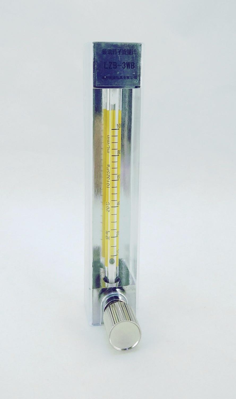LZB -3WB, skleněný rotametr pro kapalinu / vodu / H2O, průtokoměr s regulačním ventilem. conectrator, to může upravit tok