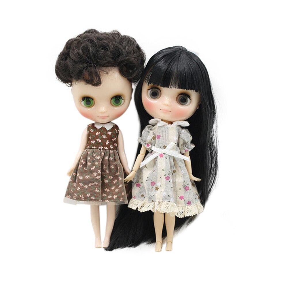 """Takara 12/"""" Blythe Doll Green Dot Skirt With Shoulder-straps+Green Slipper"""