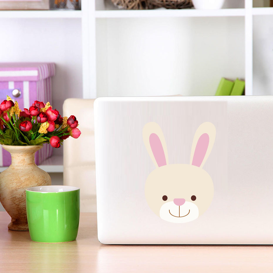 Cute Baby Bunny Rabbit Full Color Vinyl Wall Art Decal Sticker Car Bumper Sticker Or Lap ...