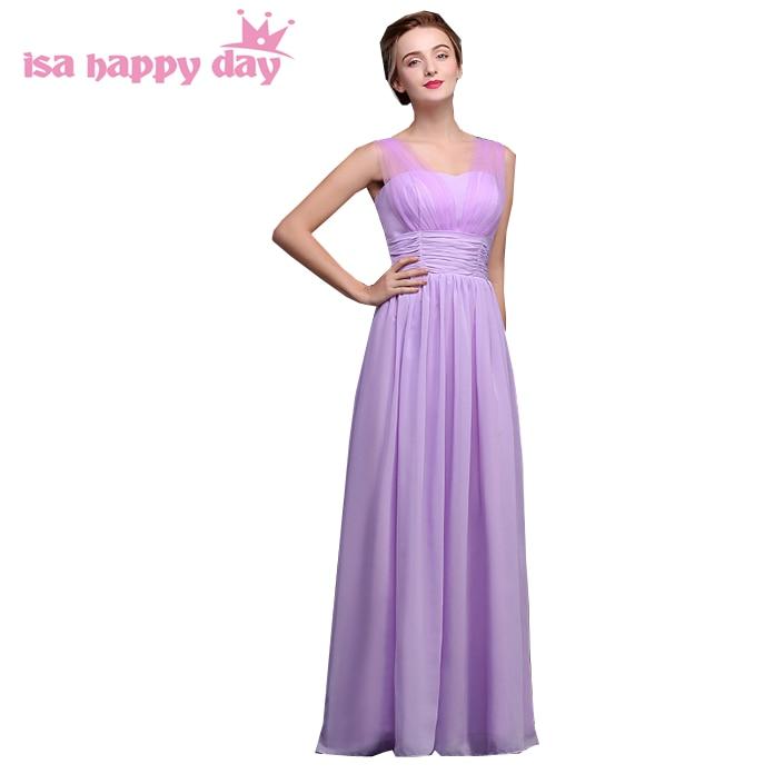robe de soiree elegant womens a line chiffon long lavender   bridesmaid     dress     dresses   2019   bridesmaids   gowns for women H3961