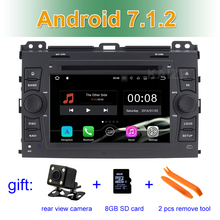 2 GB RAM Android 7.1 Car DVD Video Player for Toyota Prado Land Cruiser 120 2002-2009 with Radio WiFi Bluetooth GPS