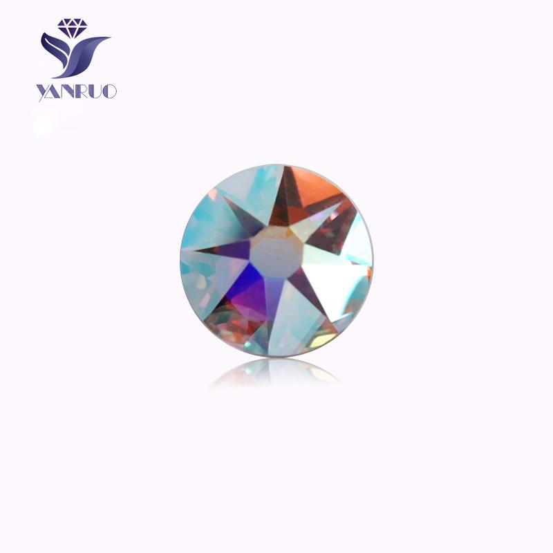 YANRUO #2088NoHF AB New Facted 8 Big + 8 Small SS16 SS20 SS30 Flatback Non Hotfix Glass Strass Nail Art Crystal Rhinestone