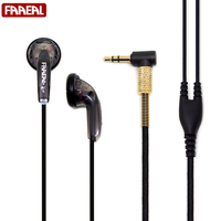 HIFI Earphone 64Ohms Silver Plated Wire Upgraded Version DIY Heavy Bass Sound Quality Music Earphones Universal