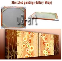 Marco de madera lienzo con bastidor De Madera de 3.0 cm de profundidad interior enmarcado por la galería de pintura de recapitulación listo para colgar
