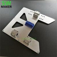 SWMAKER Atualização Y Transporte Placa de Alumínio Anodizado com Suporte de Cinto + Drylin RJ4JP 01 08 bloco kit para Anet A8 A6 3D impressora|Peças e acessórios em 3D| |  -