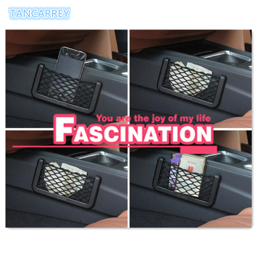 2020 New Car Storage Net Bag String Bag Mesh Pocket FOR mercedes w213 bmw f30 toyota avensis toyota auris ford focus 2