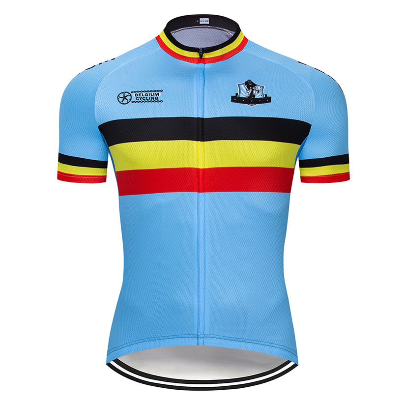 Belgium Cycling Jersey Bike-Wear Maillot Short Summer Mens Mtb-Uniform Roupa Ropa-De-Ciclismo