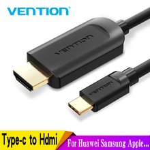 Vention USB C HDMI 4K Type to Cable Adapter for Huawei P20 Pro Mate 20 MacBook Air ipad Thunderbolt 3 1m 2m