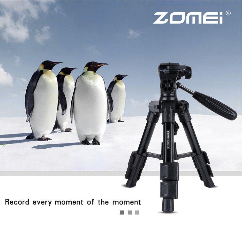Zomei Q100 Mini Tripod Universal Portable Travel Camera Accessories Aluminum Durable Tripod for Canon Nikon DSLR Digital Camera