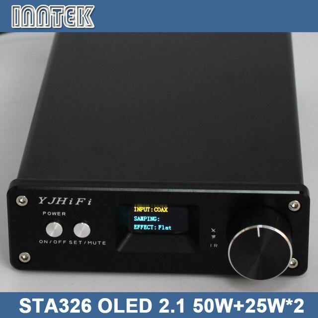 Sta326 OLED 2.1 50 Вт + 25 Вт * 2 класса D цифровой стерео аудио усилитель поддержка оптического коаксиальный usb-входом / DC24V-32V