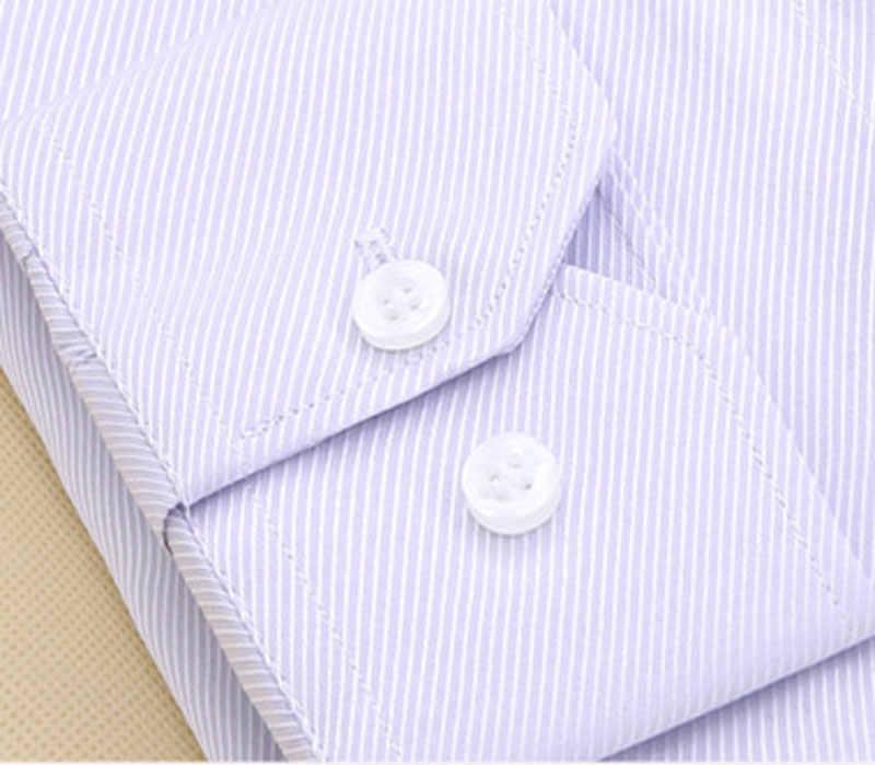 メンズレギュラーフィットツイル質感フォーマルシャツ長袖スプレッドの襟ドレスシャツピンク綿高品質シュミーズ 8XL