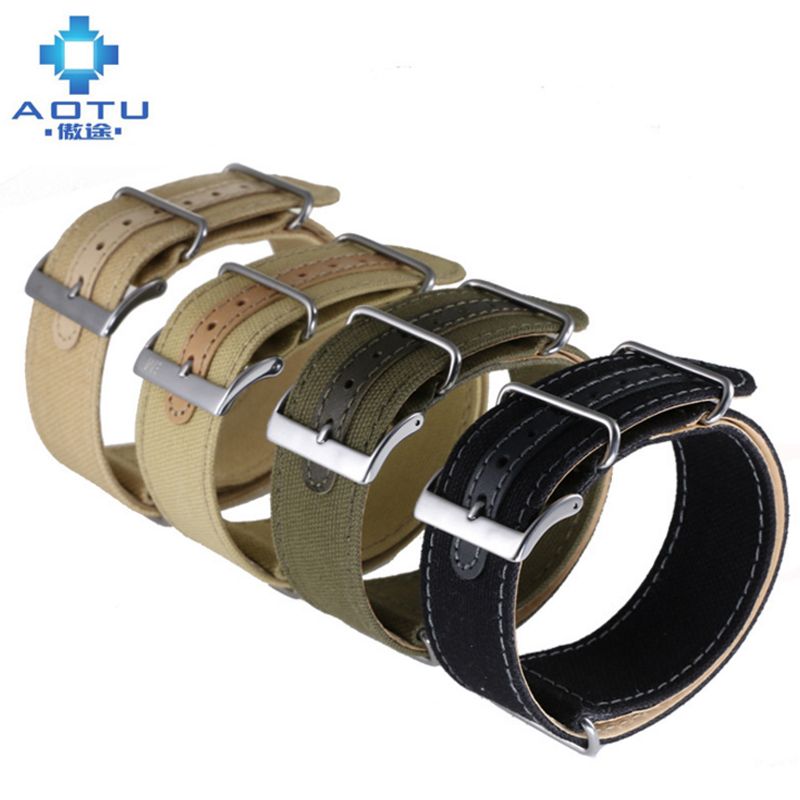 Nato Men Nylon Watchbands For Citizen Watches Canvas Casual Watch Strap Women Camouflage Watch Band For All Brand 18 20 22 24mm canvas men s watchband for diesel watches 26mm silver buckle watch strap for male casual canvas watch band watchstrap for diesel