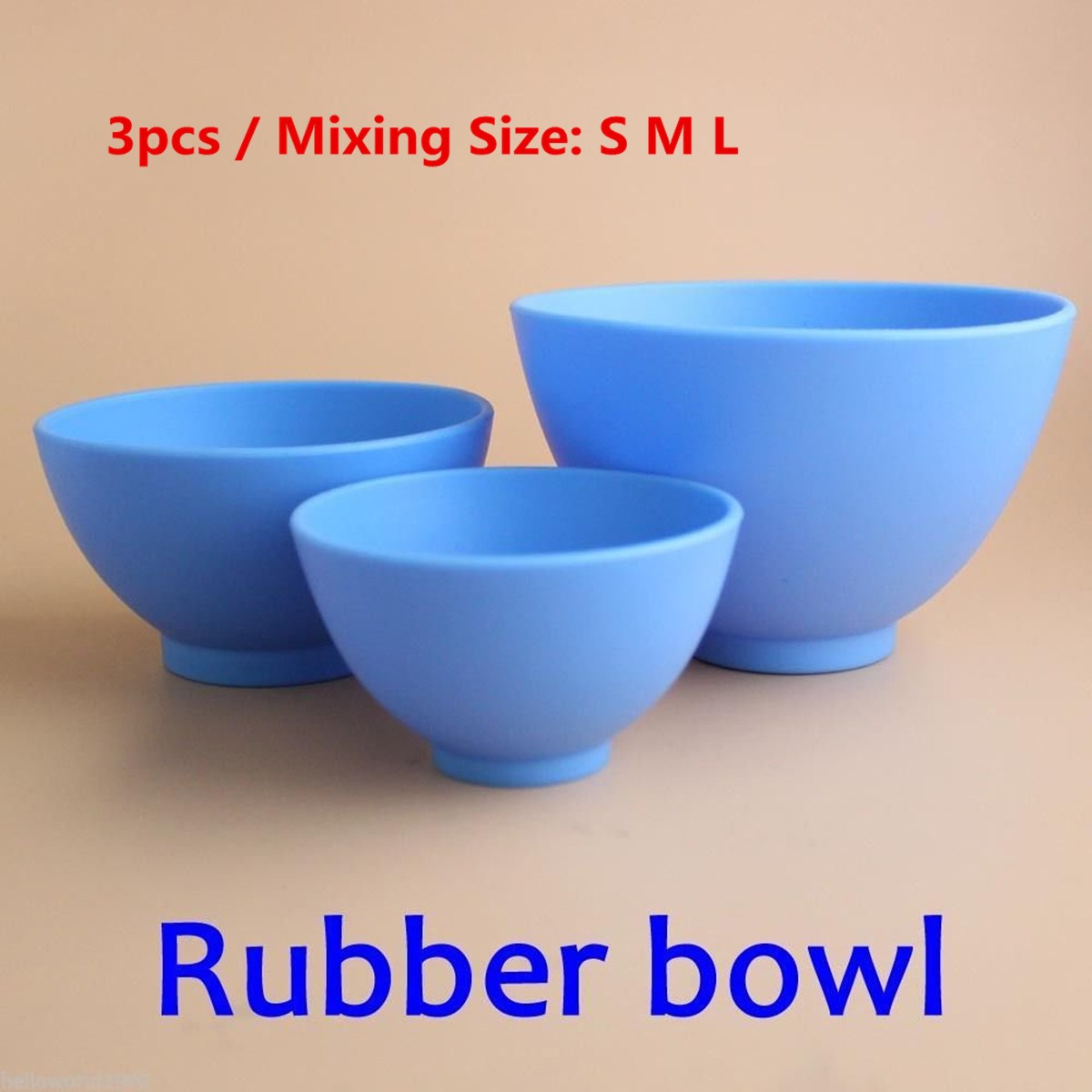 3pcs Professional Oral Hygiene Teeth Whitening Tool Thicken Flexible Dental Lab Medical Rubber Mixing Bowl Medical Tool цена