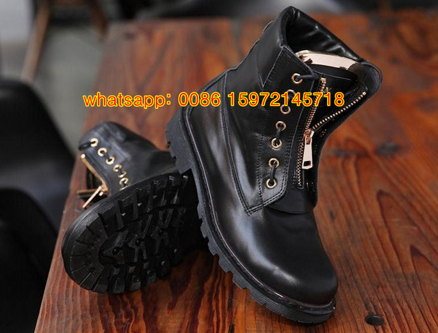38069fb5956 Men Women Boots Motorcycle Boots Ladies Vintage Combat Autumn Boots Army  Punk Goth Ankle Shoes Black Leather Taiga Ranger Boots