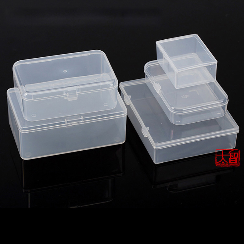 Multi-size Plastic Storage Box PP Transparent Small Case Pack boxes DIY Making Part Material Accessories Supplies